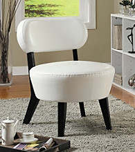 Monarch Ivory Bonded Leather Accent Chair