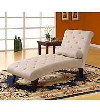 Monarch Taupe Fabric Chaise Lounger