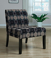 Monarch Black & Tan Circular Shape Fabric Accent Chair