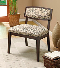 Monarch Tan Swirl Fabric / Cappuccino Accent Chair