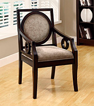 Monarch Brown Velvet / Cappuccino Solid Wood Accent Chair