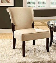Monarch Beige Linen Accent Chair