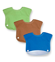 Green Sprouts® Boys' Waterproof Terry Snap 'n Scoop Bib Set