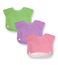 Green Sprouts® Girls' Waterproof Terry Snap 'n Scoop Bib Set