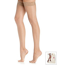 HUE® French Lace Thigh Hi