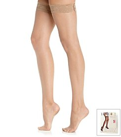 HUE® French Lace Thigh Highs