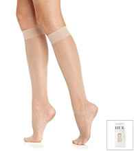 HUE® Sheer Knee Hi 3-Pair Pack