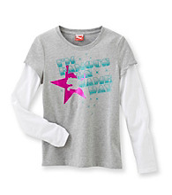 PUMA® Girls' 7-16 Grey Long-sleeve