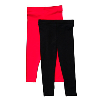 Carter's® Girls' 2T-6X Black/Red 2-pk. Leggings