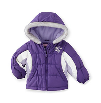 London Fog® Girls' 2T-4T Purple Bubble Jacket