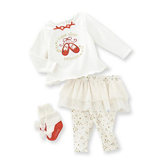Vitamins Baby® Baby Girls' Ivory 3-pc. Sugar Plum Tutu Set