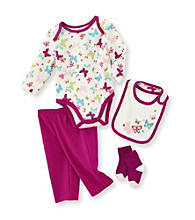 Cuddle Bear® Baby Girls' Purple Multi Butterfly Print Take-Me-Home 4-pc. Set