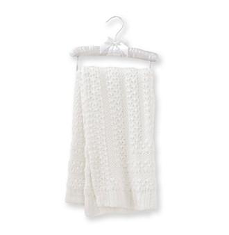 Cuddle Bear® Baby White Lurex Blanket