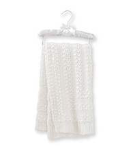 Cuddle Bear® Baby White Lurex Blanket