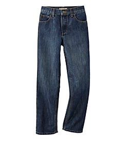 Ruff Hewn Boys' 8-20 Straight Leg Wax-finish Jeans - Medium Indigo
