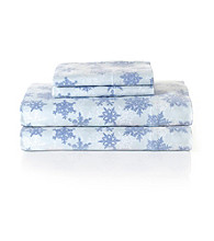 LivingQuarters Snowflake Heavy-Weight Flannel Sheet Sets