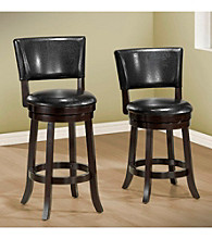 Monarch Set of 2 Black Swivel Barstools