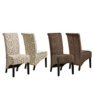 Monarch Set of 2 Swirl Fabric Parson Chairs