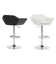 Monarch Set of 2 Sleek Metal Hydraulic Lift Barstools