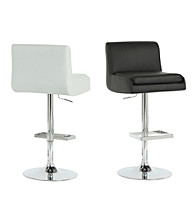 Monarch Set of 2 Contemporary Metal Hydraulic Lift Barstools