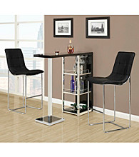 Monarch Glossy Metal Bar Table