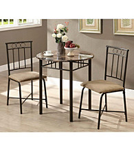 Monarch Windsor 3-pc. Bronze Metal Bistro Set