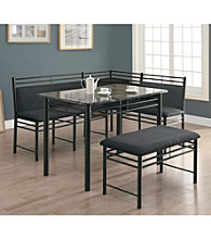 Monarch Windsor 3-pc. Metal Corner Dining Set