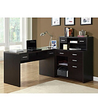 Monarch Cappuccino L-Shaped Home Office Desk