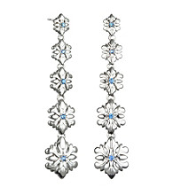 ARIVA Acanthus Motif Graduated Drop Earring