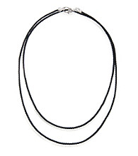 ARIVA Cord Necklace Signature Sterling Silver Clasp