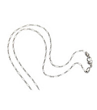 ARIVA Sterling Silver Alternating Link Chain