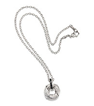 ARIVA Sterling Silver Diamond Enhancer Pendant on Chain
