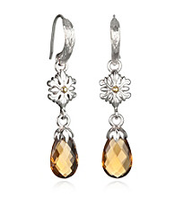 ARIVA Briolette Gemstone Sterling Silver Earrings