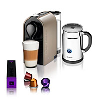 Nespresso® U Compact Coffee Brewing Unit & Aeroccino Plus + $50 Nespresso Club Credit