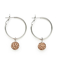 .925 Sterling Silver Mocha Crystal Earrings