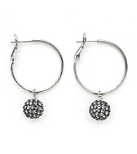 .925 Sterling Silver Grey Crystal Earrings