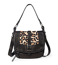 The Sak® Black Leopard Silverlake Mini Flap Crossbody