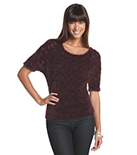 Nine West Jeans Seedhead Feather Pointelle Sweater