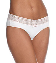 Relativity® Lace Waist Bikini Briefs