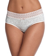 Relativity® Cotton/Spandex Lace Waist Hipsters