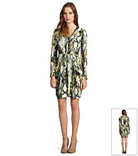 Kenneth Cole Camo Snake Dress with Pleats