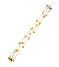 Anne Klein® Goldtone Illusion Bracelet