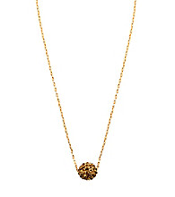 Anne Klein® Goldtone Topaz Fireball Pendant Necklace
