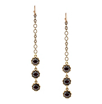 Jessica Simpson Sitara Gold Linear Drop Earrings