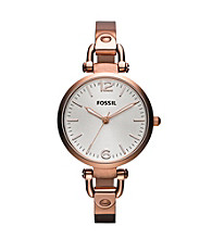 Fossil® Rose Goldtone Georgia Stainless Steel Watch