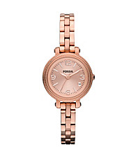 Fossil® Rose Gold-Tone Heather Mini Stainless Steel Watch