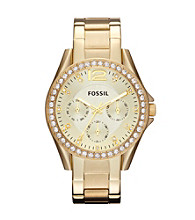 Fossil® Goldtone Riley Stainless Steel Watch