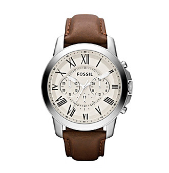 Fossil® Grant Roman Leather Watch