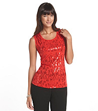 Laura Ashley® Petites' Running Sequins Tank