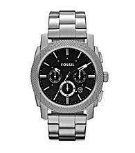 Fossil® Silver Machine Stainless Steel Watch